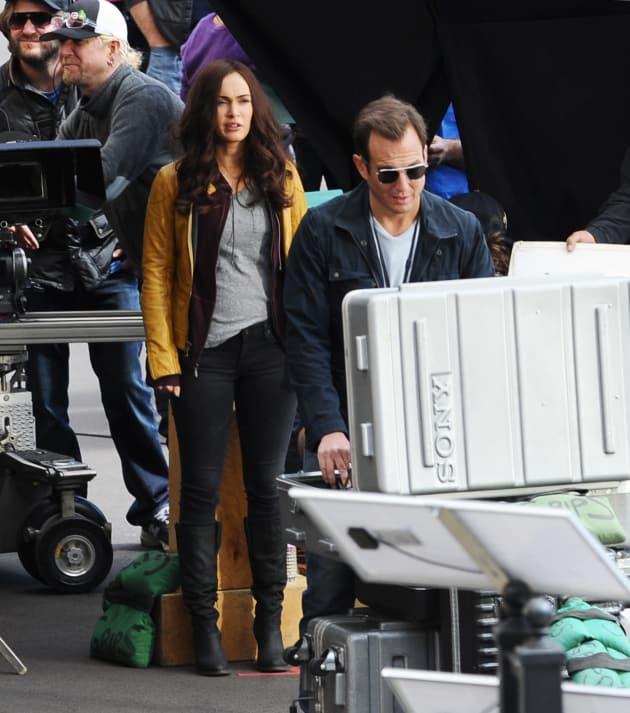 Megan Fox On Set Photo