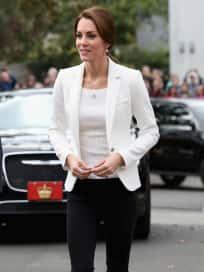 Kate Middleton White Blazer Victoria Canada 2016