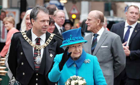 The Queen and Prince Philip Visit Edinburgh Waverley Station
