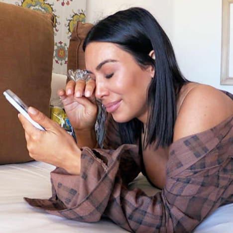 Kim Kardashian Totally Cries