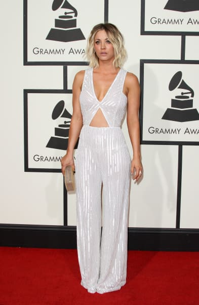 Kaley Cuoco at 2016 Grammys