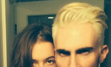 What do you think of Adam Levine with blonde hair?