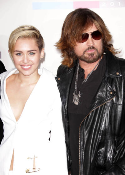 Miley Cyrus and Billy Ray Cyrus Red Carpet