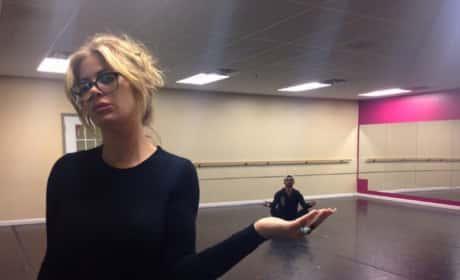 Kim Zolciak Practices With Tony Dovolani