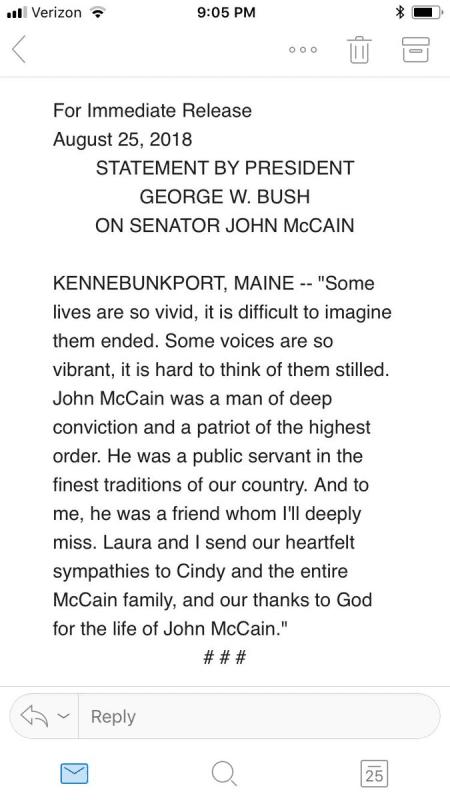 George w bush reaction
