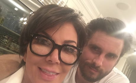 Kris Jenner and Scott Disick Selfie