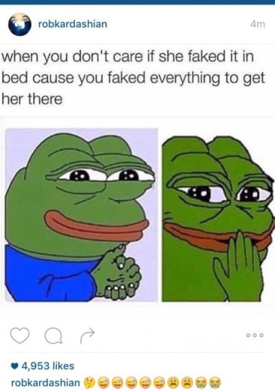 Rob Kardashian meme shading Blac Chyna?