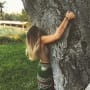 Paris jackson sideboob tattoo while tree hugging