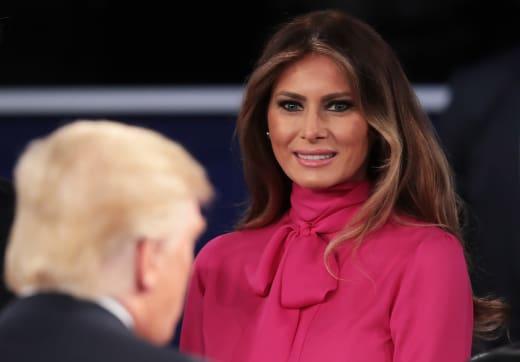 Melania Trump Pussy-Bow Shirt