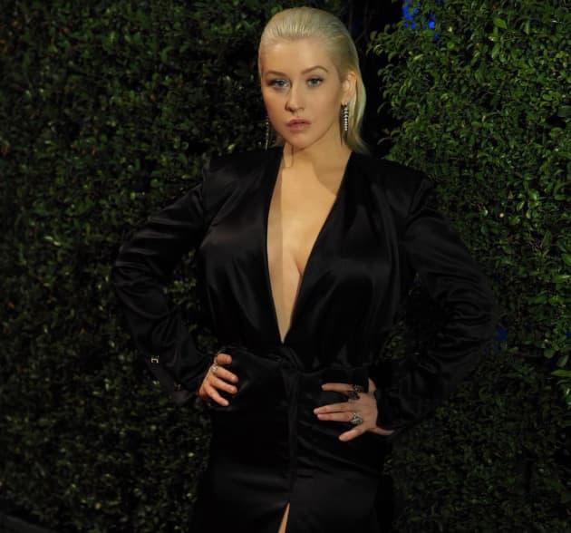Christina aguilera bare breast