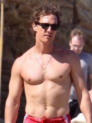 Matthew McConaughey shirtless