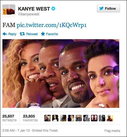 Kanye West Twit Pic
