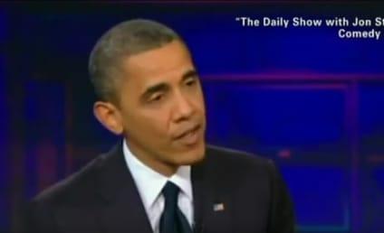 "Barack Obama Visits Daily Show, Jon Stewart Calls President ""Timid"""