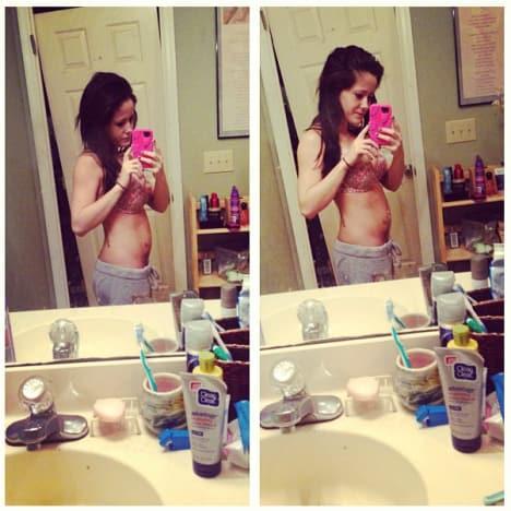 Jenelle Evans Baby Bump Pics