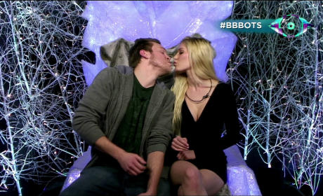 Heidi and Spencer Kiss on Celebrity BB