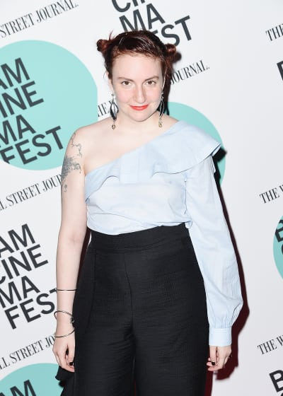 Lena Dunham Exposes a Shoulder