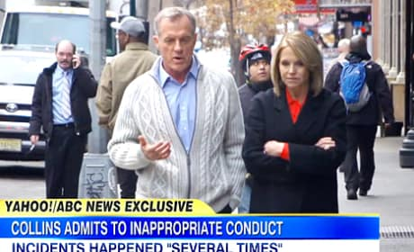 Stephen Collins and Katie Couric