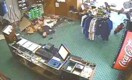 Guy Crashes Through Ceiling, No One Seems to Care