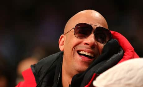 Vin Diesel at the All-Star Game