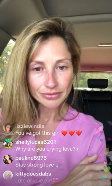 Ashley Jacobs is Sad on Instagram Live