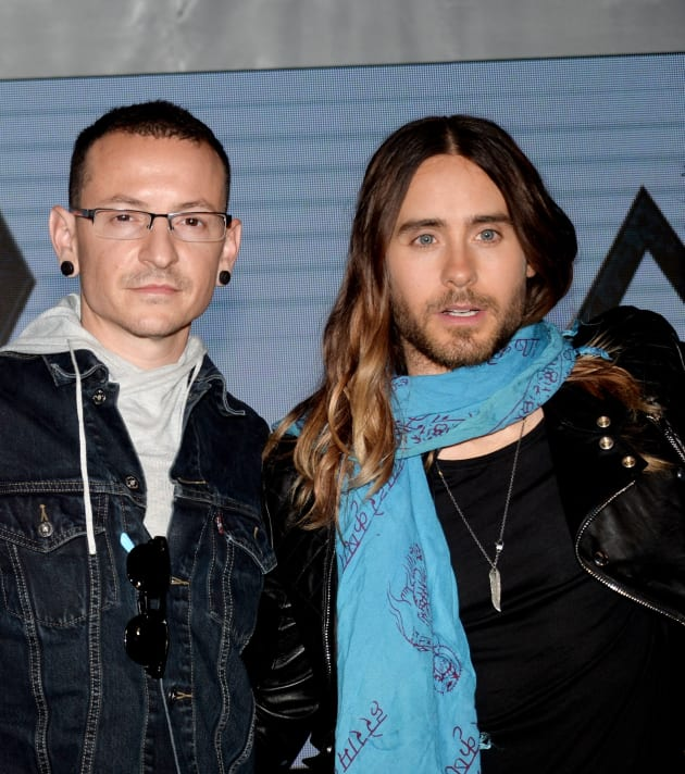 Chester Bennington and Jared Leto