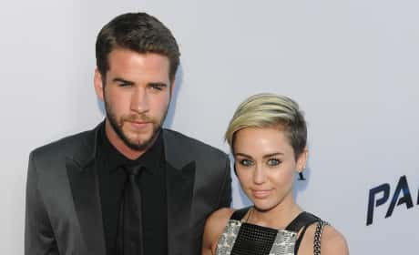 Miley Cyrus and Liam Hemsworth at Movie Premiere