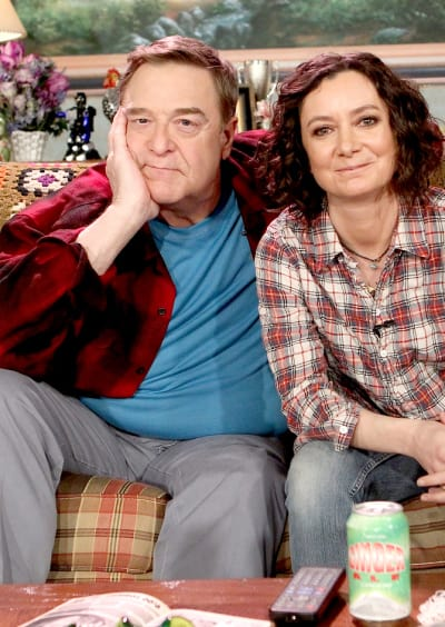 John Goodman and Sara Gilbert