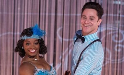 Simone Biles Reacts to Dancing with the Stars Stunner