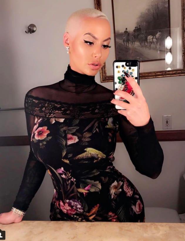 Amber Rose Poses