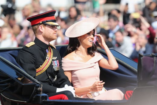 Meghan Markle and Harry in Car
