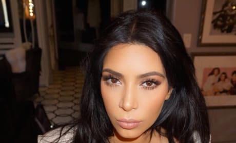Kim Kardashian Gets Serious