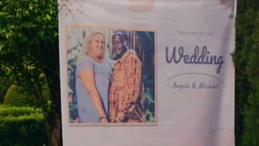 Wedding poster for Angela Deem and Michael Ilesanmi