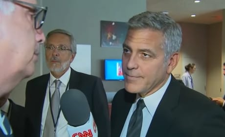 George Clooney Learns of Brangelina Divorce