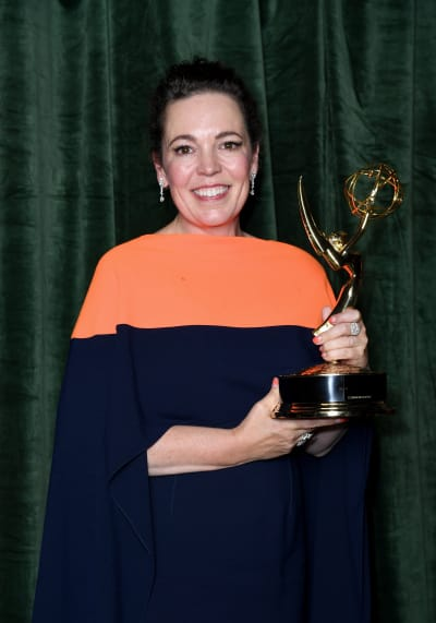 Olivia Colman With Her Emmy