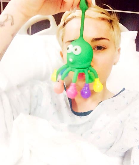 Miley Cyrus in Hospital