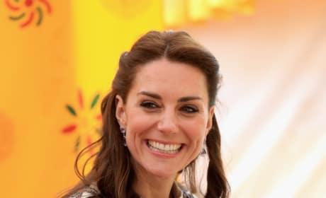 Kate Middleton Takes Tea During Bhutanese Archery Demonstration
