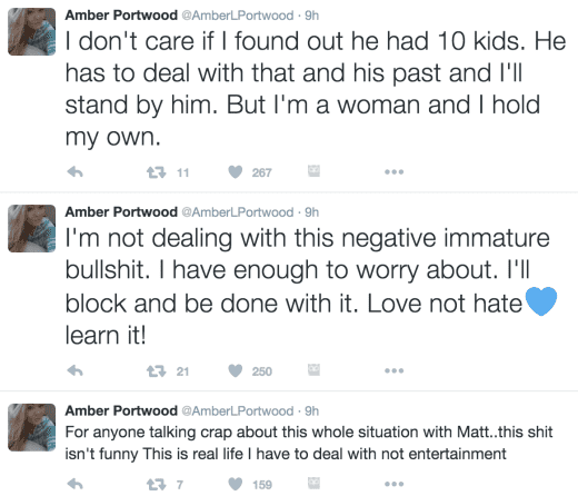 Amber Portwood Defends Her Relationship On Twitter