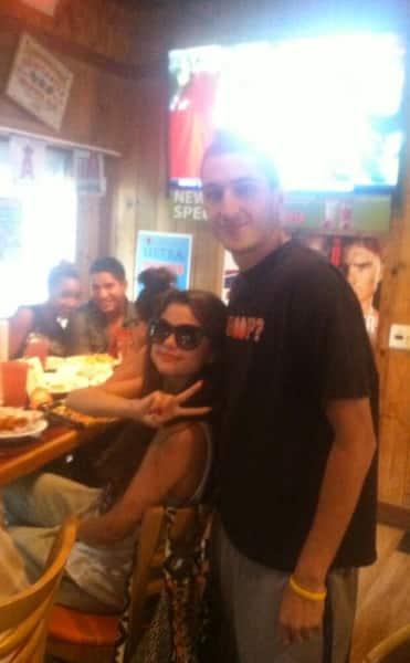 Selena Gomez at Hooters