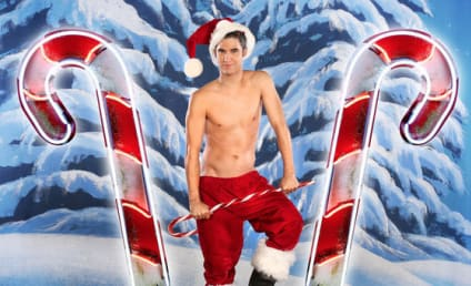 Darren Criss: Shirtless for Glee Christmas Calendar
