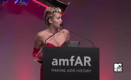 Miley Cyrus Gives Powerful Speech at AmfAR Inspiration Gala