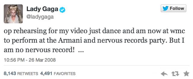 Lady Gaga's First Tweet