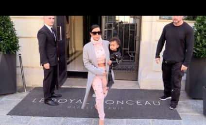 Kim Kardashian FORGETS North West at Paris Hotel! Watch Video of Kim Nearly Leaving Her Baby Behind!