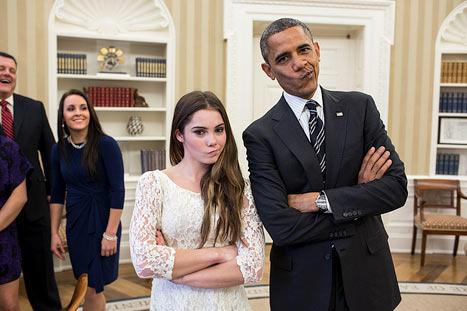 President Obama and McKayla Maroney