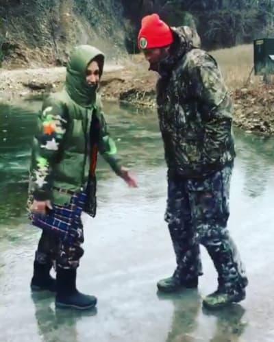 Gwen Stefani and Blake Shelton on Ice
