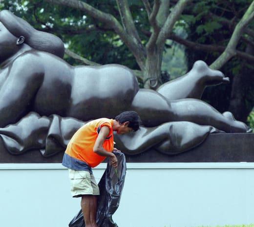 Fat Woman Statue