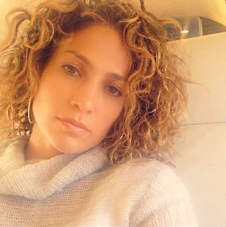 Jennifer Lopez with Curly Hair