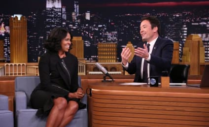 Michelle Obama Cries, Plays Catchphrase on The Tonight Show