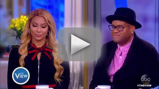Tamar braxton opens way up on the view wth happened with vince