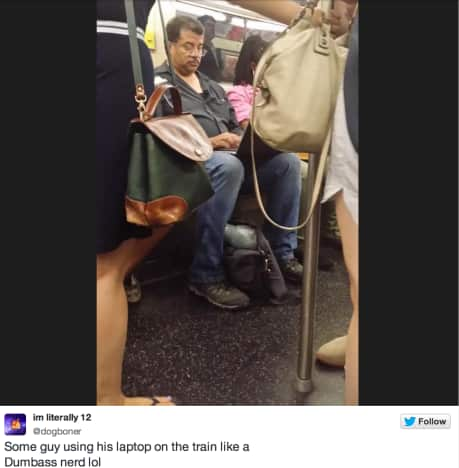 Neil deGrasse Tyson on the Subway