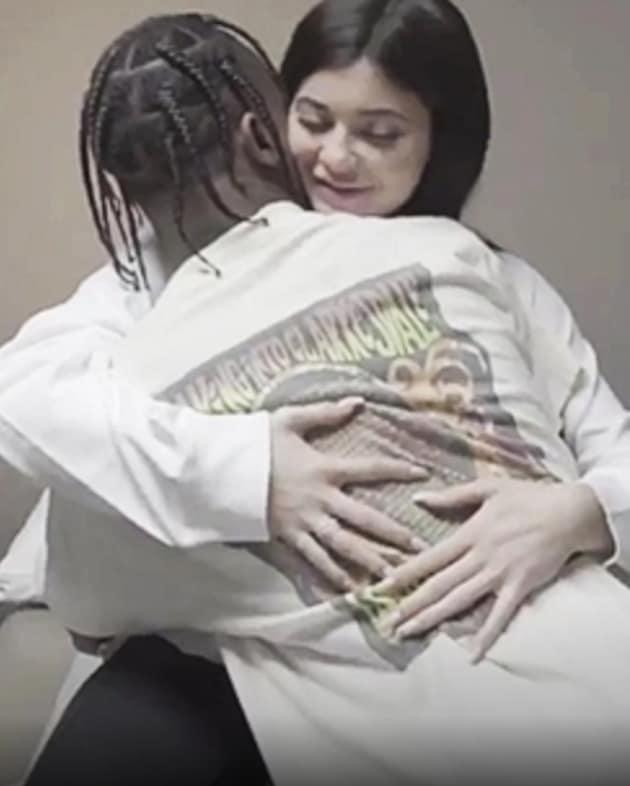 Travis Hugs Kylie